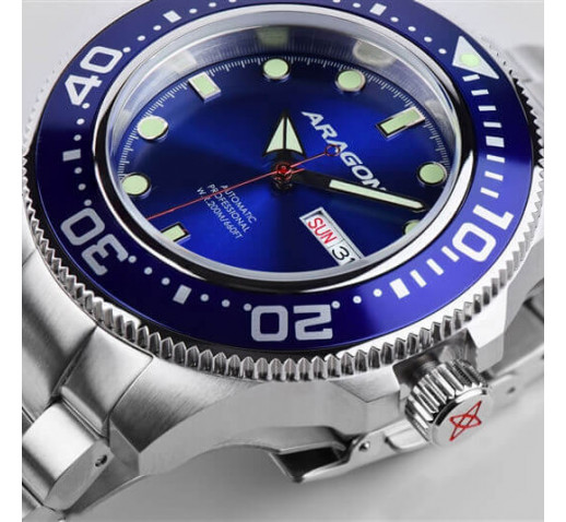 Aragon Divemaster Механические Часы Мужские на Браслете Диаметр 45мм