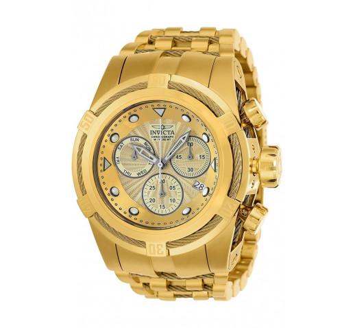 Invicta Bolt Zeus Полностью Золотые Большие Мужские Часы Хронограф - 23911