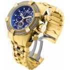 Invicta Reserve Bolt Zeus Большие Золотистые Мужские Часы Бриллианты - 30069