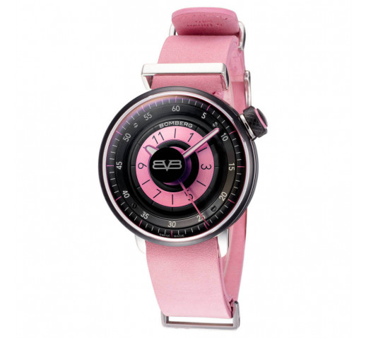 Bomberg BB-01 Женские Швейцарские Часы 38мм Розовый Кожаный Ремешок