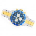 Glycine Combat Swiss Made Синий Циферблат Стальной Браслет Часы - GL1002
