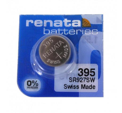 Renata 395 SR927SW Дисковая Серебряно-Цинковая Батарейка для Часов