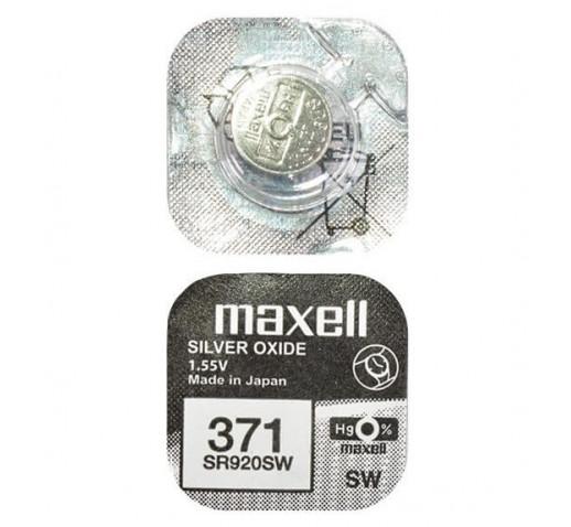 Maxell 371 SR920SW Дисковая Серебряно-Цинковая Батарейка для Часов