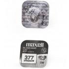 Maxell 377 SR626SW Дисковая Серебряно-Цинковая Батарейка для Часов