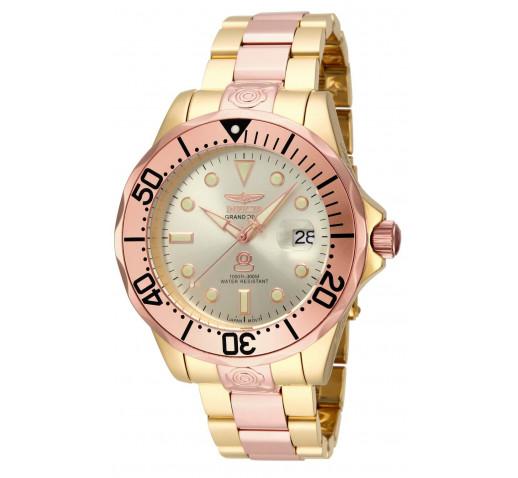 Invicta Pro Diver Grand Diver Розовое и Жёлтое Золото Мужские Часы - 16039