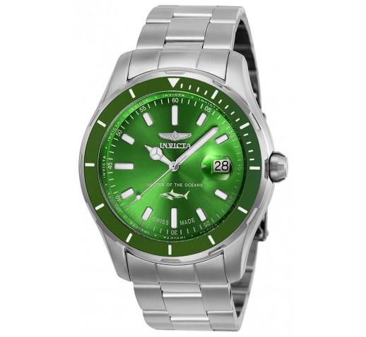 Invicta Pro Diver Swiss Made Зелёный Циферблат Мужские Часы 44мм - 25808