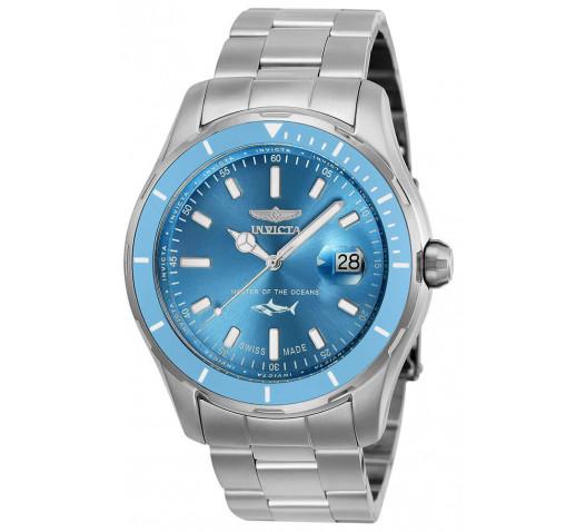 Invicta Pro Diver Swiss Made Голубой Циферблат Мужские Часы 44мм - 25809