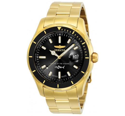 Invicta Pro Diver Swiss Made Полностью Золотистые Мужские Часы 44мм - 25810
