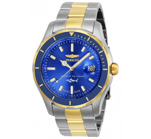 Invicta Pro Diver Swiss Made Синий Циферблат и Безель Мужские Часы - 25815