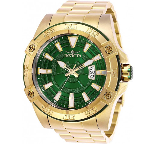 Invicta Pro Diver Полностью Золотистые с Зелёным Циферблатом Часы - 27013