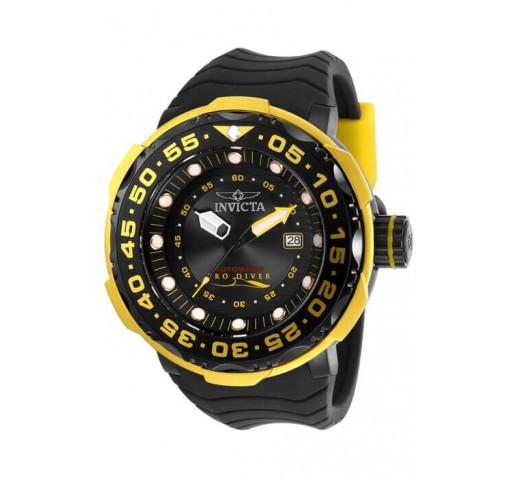 Invicta Pro Diver Sea Monster Черные с Желтыми Акцентами Часы - 28786