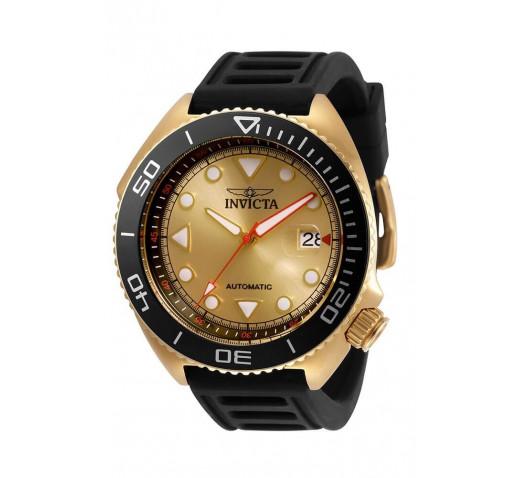 Invicta Pro Diver Sea Wolf Золотистые Часы на Ремешке Механические - 30425