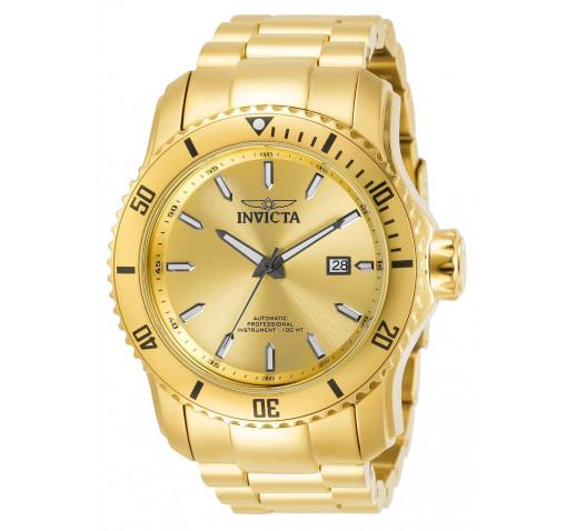 Invicta Pro Diver Scuba Полностью Золотые Механические Часы 49мм - 30549