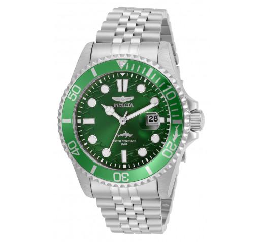 Invicta Pro Diver Зеленый Циферблат Стальной Браслет Часы Мужские - 30611