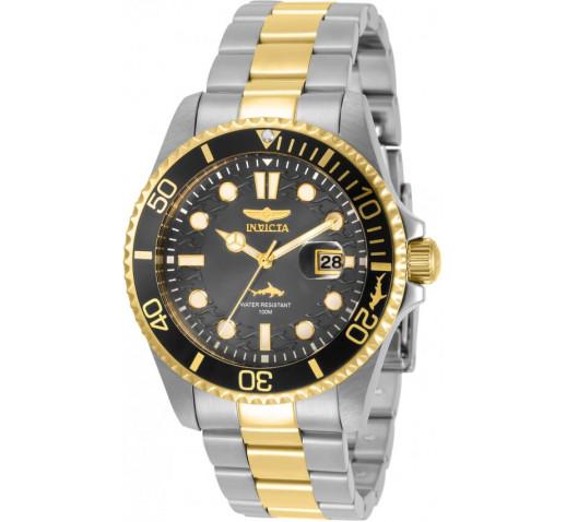 Invicta Pro Diver 43мм Золото и Сталь Мужские Часы Кварцевые - 30809