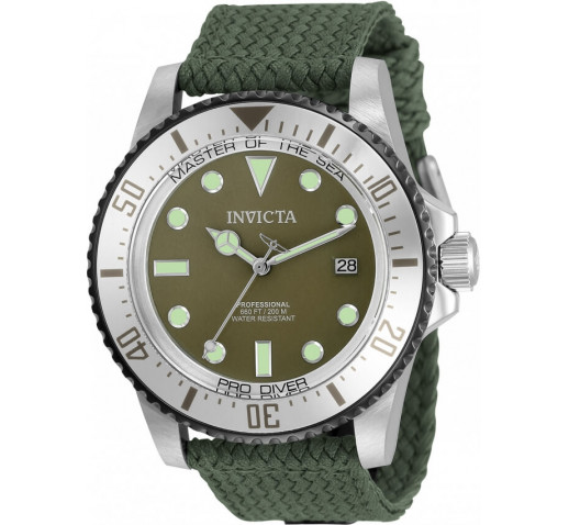 Invicta Pro Diver Тёмно-Зелёный Ремешок Механические Часы Мужские - 35422