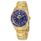 Invicta Pro Diver Золотого Цвета с Синим Циферблатом Мужские Часы - 8937