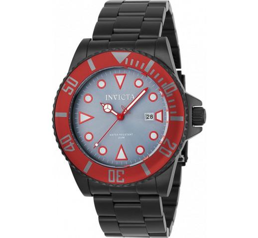 Invicta Pro Diver Черные Красный Безель Мужские Часы Кварцевые - 90296