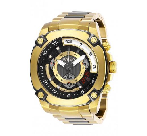 Invicta Reserve Полностью Золотые Мужские Часы с Черными Акцентами - 27052