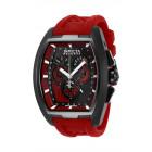 Invicta Reserve Diablo Черный Корпус Красный Ремешок Часы Кварцевые - 27089