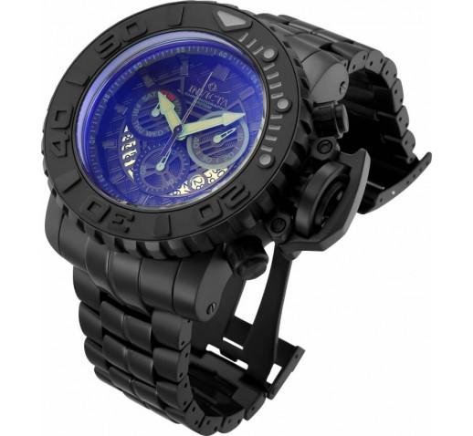 Invicta Sea Hunter Большие Чёрные Часы с Крашеным Стеклом 58мм - 32644