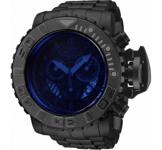 Invicta Sea Hunter Большие Чёрные Часы с Крашеным Стеклом 58мм - 32645