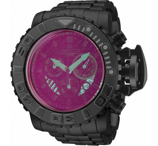 Invicta Sea Hunter Большие Чёрные Часы с Крашеным Стеклом 58мм - 32646