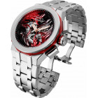 Invicta SHAQ Большие Серебристые Часы Мужские Кварцевые 52мм - 34816