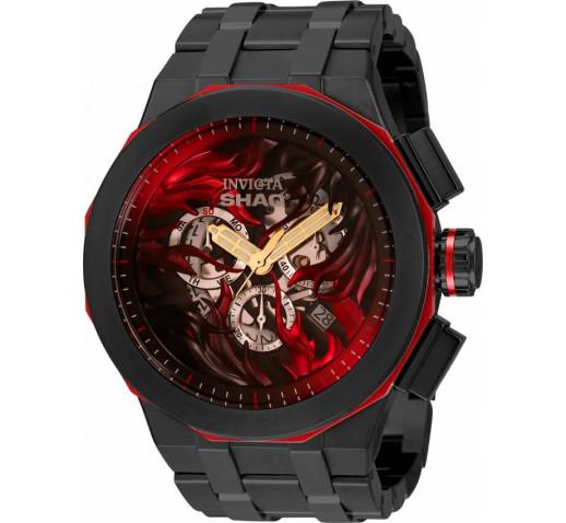 Invicta SHAQ Большие Чёрные Часы Мужские Кварцевые 52мм - 34817