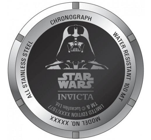 Invicta DNA Star Wars Darth Vader Чёрный Ремешок Часы Мужские 46мм - 34685