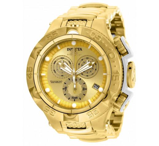 Invicta Subaqua Noma V Мужские Часы Полностью Золотого Цвета 50мм - 27677