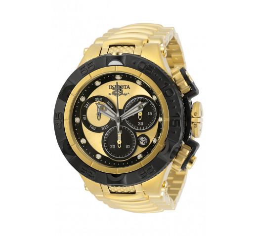 Invicta Subaqua Noma V Полностью Золотые Часы Черный Безель - 31565