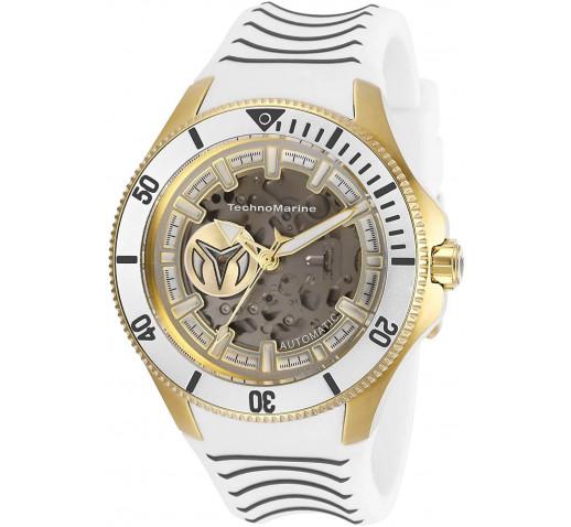 TechnoMarine Cruise Shark Белый Ремешок Золотой Корпус Часы - TM-118022