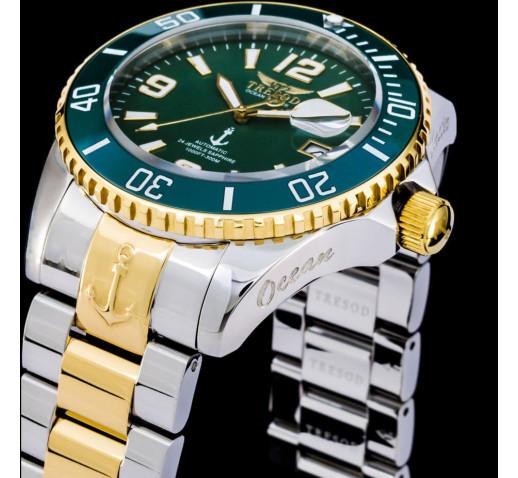 Tresod Ocean Master Зелёный Циферблат Механические Часы 44мм - OM-0105
