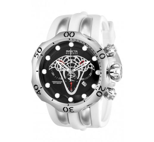 Invicta Reserve Venom Viper Большие Белые Мужские Часы с Коброй - 24065
